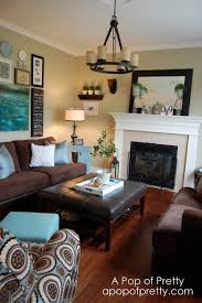 Brown And Blue Living Room Enchanting Aqua And Brown Living Room Home Inspiration In 48 Pinterest
