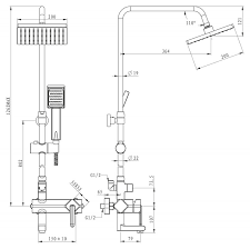 <b>Душевая колонна со смесителем</b> для ванны BelBagno CRYSTAL ...