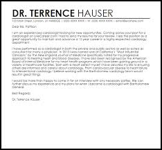 cardiologist cover letter sample cardiologist resume