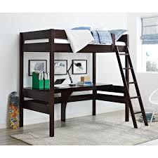 Dorel Living Harlan Twin Wood Loft Bed with Desk, Multiple Colors ...