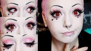 kawaii speckled goth makeup tutorial toxic tears