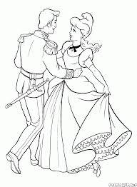 Disegni Da Colorare Cenerentola E Il Principe Al Ballo