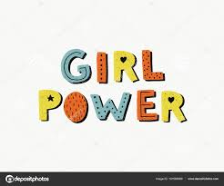 Girl Power Poster Woman Motivational Slogan Stock Vector