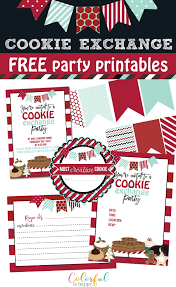 Printable Holiday Party Invitations Cookie Exchange Holiday Party Invitations Ideas With Free