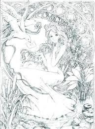 Fairy Coloring Pages For Adults Predragterziccom