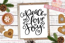 Thank you for your support and i wish you and your family happy holiday. Christmas Quote Svg Dxf Png Eps Peace Love Joy Svg Design 369330 Svgs Design Bundles Hand Lettered Christmas Christmas Quotes Christmas Svg Files
