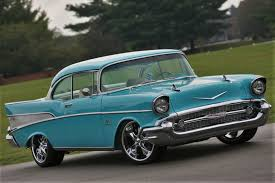Linsday McLaughlin's Blue '57 Chevy Blends Both Old and New