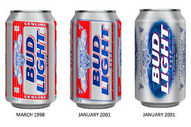 Old Bud Light Label Bud Light Has A New Design And Its Very Blue Ad Age