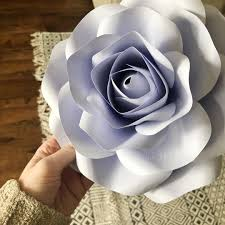 Cardstock Paper Flower Lavender Small Paper Rose Cardstock Paper From Kellypaper_