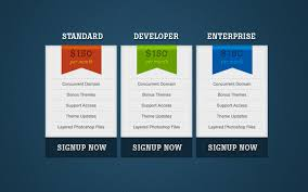 Pricing Template Free Price Table Template The Design Work