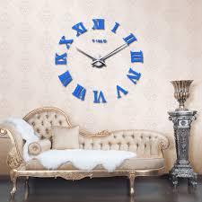 office room diy decoration blue. Wall Clock Home Decor Modern Large 3d DIY Sticker Mirror Art Office Living  Room Sky Blue   EBay Office Room Diy Decoration Blue F