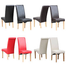 Faux Leather Dining Room Chairs 6 Leather Dining Chairs Ebay
