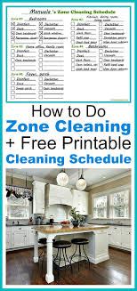 Zone Cleaning Chart For Kids Winter Cleaning Checklist Free Printable A Cultivated Nest
