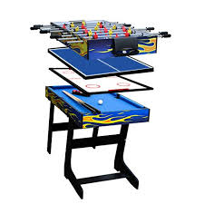 IFOYO 48 in / 4 ft Multi-Function 1 Steady Combo Game Table, Hockey Soccer Foosball Pool Table Tennis Yellow Flame 13 Best Multi tables reviews 2018 | table zone