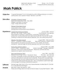 Production Resume Template Producer Resume Examples Resume Samples