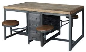 office work tables. Alberi Work Table Desk (Rustic Black-Bleached Pine) Office Tables A