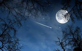Image result for moon with stars