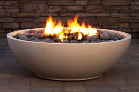 gas fire bowl. Beautiful Fire Oyster Shell Honed Finish Shown With Gas Fire Bowl