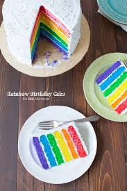 rainbow birthday cake from thelittlekitchen net