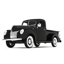 1940 Ford Pickup Truck Black 1/25 Diecast Model Car By First Gear ...