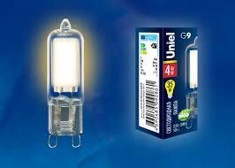 Светодиодная <b>лампа LED</b>-<b>JCD</b>-<b>4W</b>/<b>WW</b>/<b>G9</b>/<b>CL</b> GLZ01TR ...