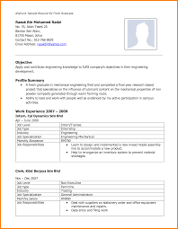 Download Best Resume Format For Mechanical Engineers Awesome