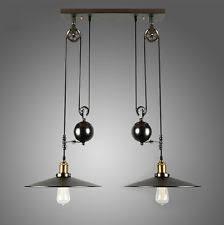 retractable lighting fixtures. vintage edison industrial pulley pendant light adjustable wire retractable lamp lighting fixtures