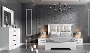 Franco Spain Carmen White Modern Bedroom Set