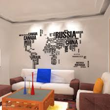 Wall Decor Sticker World Map Wall Stickers Home Art Wall Decor Decals For Living