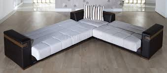 convertible sectional sofa bed. Delighful Sectional Recent Convertible Sectional Sofas With Fabric U0026 Dark Leatherette  Sofa Bed Gallery 9