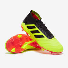 adidas predator 18 1 leather fg solar yellow core black solar red firm ground mens boots