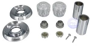 photo of this chrome trim kit for valley double handled showers