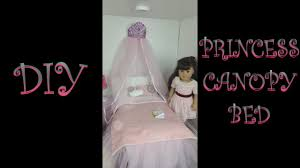 DIY Princess Canopy Bed for AG Dolls - YouTube