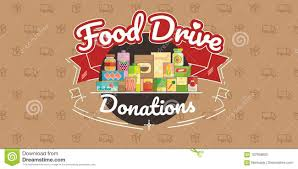 Food Drive Posters Food Drive Charity Movement Vector Illustration Stock