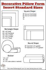 Standard Lumber Sizes Chart Pillow Size Chart Thebutcherandbarrel Co