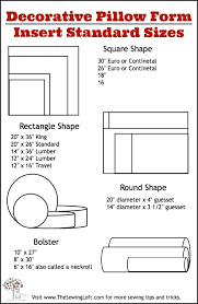 Pillow Size Chart Thebutcherandbarrel Co