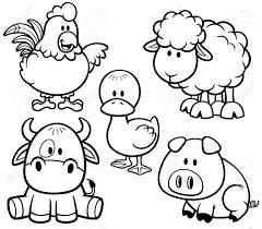 Ilustraci N Vectorial De Conjunto Granja Cartoon Animals Libro De