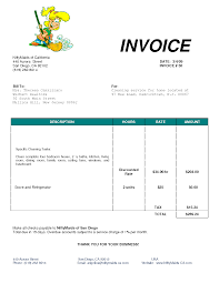 Cleaning Bill Invoice Services Invoice Ideas For The House