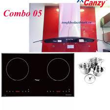 Combo 05: Bếp từ đôi Canzy CZ 26B máy hút hút mùi CZ 4680 - Siêu thị Nhà bếp  Đức Thành
