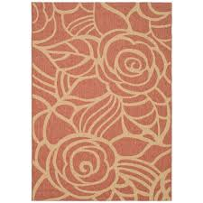 safavieh courtyard rust sand 8 ft x 11 ft indoor outdoor area rug cy5141a 8 the home depot