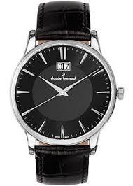 <b>Часы</b> Claude Bernard 63003-3NIN - купить мужские наручные ...