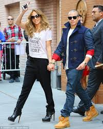 casper smart and jennifer lopez 2014. power couple: jennifer lopez and casper smart were all smiles after filming katie couric in 2014