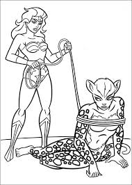Huntress catwoman wonder woman inked by lottiefrancis. Wonder Woman Tied Up Cheetah Coloring Page Free Printable Coloring Pages For Kids