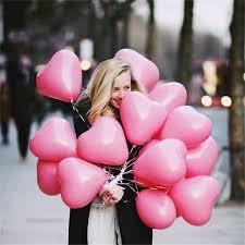<b>50pcs 2.2g 10inch</b> Red Pink White Heart Latex Balloons Wedding ...