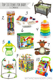 top 10 items for es 6 12 months old wit wander