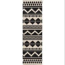 Buy 25 X 8 Aztec Bohemian Midnight Black And Gray Hand Woven Wool Area Throw Rug Runner In Cheap Price On Alibabacom