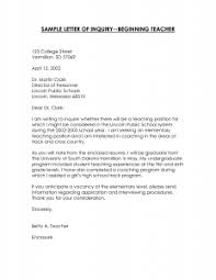 Best Ideas Of Cover Letter Template For First Year Teacher Simple