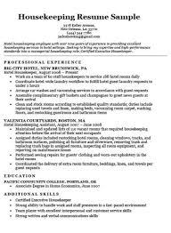 Housekeeping Cover Letter Sample Resume Companion