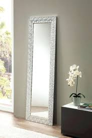 view larger gallery glamour mirror with a large silver frame and rhinestone detail lights nz collection large mirror with lights