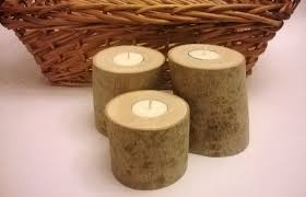 Tea Light Candle Fireplace Log Cool Birch Log Candle Holder Fireplace Wood Rustic Holders